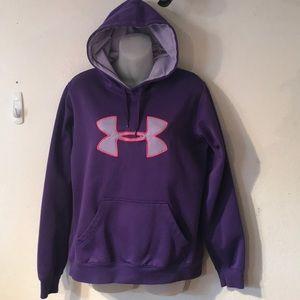 UNDER ARMOUR purple hoodie sweatshirt size MEDIUM